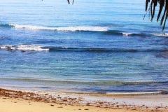 在镇的海滩十七七十 免版税库存图片