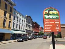 在镇里, Owego纽约 图库摄影