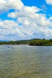 在镇静Loch Lomond湖的水上运动在苏格兰, 21, 2016年7月 免版税库存图片