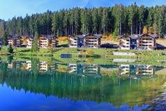 在镇Ruzomberok,斯洛伐克附近浇灌水池Hrabovo 免版税库存照片