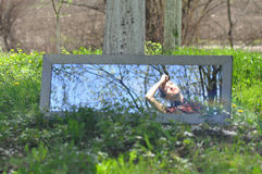 在镜子的反映 库存图片