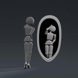 在镜子的肉欲的秀丽 库存例证