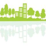 在镜子的Eco生存概念 库存照片