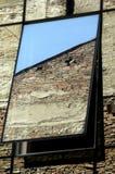 在镜子窗口的反射 库存照片