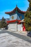 在长城的古老中国建筑学 免版税库存图片