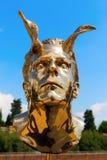 在长处di Belvedere的金黄雕塑在佛罗伦萨,意大利 库存图片