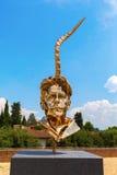 在长处di Belvedere的金黄雕塑在佛罗伦萨,意大利 免版税图库摄影
