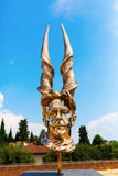 在长处di Belvedere的金黄雕塑在佛罗伦萨,意大利 免版税库存图片