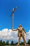 在长处di Belvedere的金黄雕塑在佛罗伦萨,意大利 库存照片