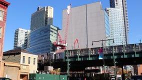 在长岛市女王/王后NY的火车站 商业和居民住房建筑 2018年11月 影视素材