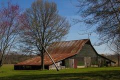 在长方形附近的谷仓, IL 库存照片
