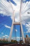 在长江的大佛寺桥梁 库存图片