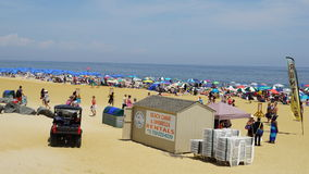 在长的分支的海滩在新泽西 免版税库存照片