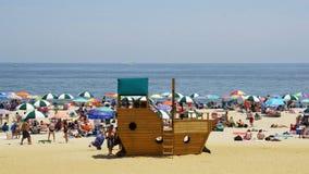 在长的分支的海滩在新泽西 图库摄影