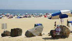 在长的分支的海滩在新泽西 免版税库存图片