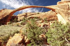 在长的国家公园里面的arche曲拱 免版税图库摄影