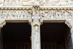 在门专栏的教士雕象对wester的圣安妮门户 图库摄影