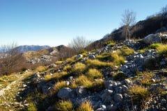 在门的内哥罗的高地的秋天风景 图库摄影