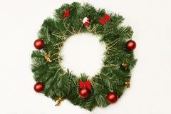 在门的圣诞节花圈 库存图片