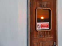 在门的太阳 图库摄影