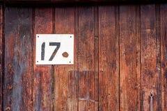 在门的房子号码 免版税库存图片