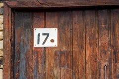 在门的房子号码 库存照片