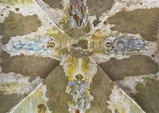 在门的曲拱的老绘画 免版税图库摄影