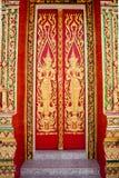 在门的泰国样式 免版税库存照片