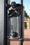 在门的老锁 免版税图库摄影