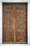 在门的装饰伊斯兰教的艺术纹理背景 免版税库存照片