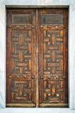 在门的装饰伊斯兰教的艺术纹理背景 图库摄影