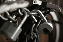 在门的锁 免版税库存照片