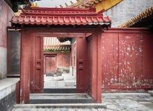 在门,北京,中国里面的紫禁城 库存图片