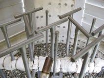 在闭合的类型的火炬系统,出现的小煤气炉 图库摄影