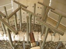 在闭合的类型的火炬系统,出现的小煤气炉 库存图片