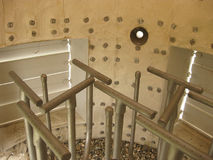 在闭合的类型的火炬系统,出现的小煤气炉 免版税库存图片