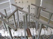 在闭合的类型的火炬系统,出现的小煤气炉 库存照片