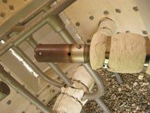 在闭合的类型的火炬系统,出现的小煤气炉 免版税库存照片