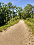 在阁楼山保留的人行道,森林地公园(以前西部佩特森),新泽西 图库摄影