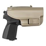 在防护的手枪皮套的枪 库存照片