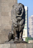 在阳光下的开罗Kasr El尼罗狮子 图库摄影