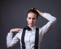 在阳刚之气的女性社论 免版税库存图片