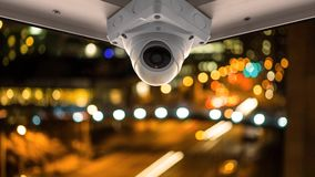 在阳台的安全监控相机 影视素材