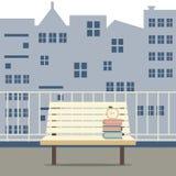 在阳台的空的木椅子 免版税库存图片