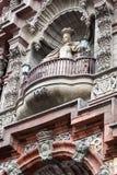 在阳台的雕塑 库存照片