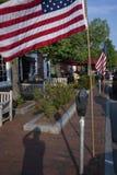 在阵亡将士纪念日的美国国旗 库存图片