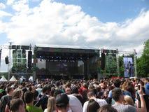 在阶段的夏天音乐会 库存图片