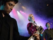 在阶段的摇滚乐队 库存照片