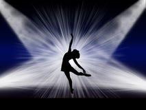 在阶段的跳芭蕾舞者 库存照片