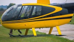 在阶段的黄色葡萄酒直升机 关闭 库存照片